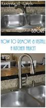 how to remove and install a kitchen moen faucet keeping it