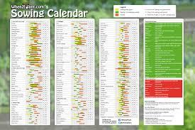 Vegetable Garden Planting Calendar by Poster Large Sowing Calendar When2plant Com