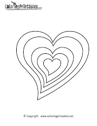 hearts coloring page a free girls coloring printable