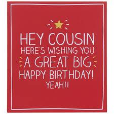 cousin birthday card happy jackson hey cousin birthday card temptation gifts