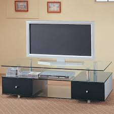 Modern Furniture Tv Stand Coaster Furniture 720081 Low Height Glass Tv Stand Glass Tv