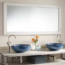 wulan teak mirror light gray bathroom