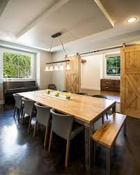 Traditional Dining Room by 25 Diverse Dining Rooms With Sliding Barn Doors