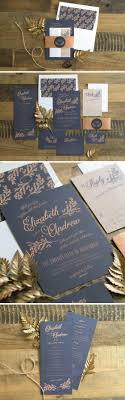 wedding invitations in rustic wedding invitations in navy the elli