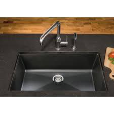 Granite Composite Kitchen Sinks by Blanco 441478 Precis Cinder Undermount Single Bowl Kitchen Sinks