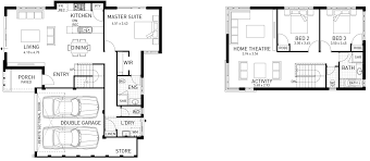 Two Storey Floor Plan Two Storey Home Designs Double Storey Home Designs Domain By