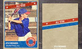 custom baseball cards template baseball card template perfect for