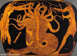 Ancient Greek Vase Painting Heracles U0026 Hydra Ancient Greek Vase Painting