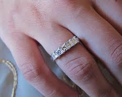 washington dc wedding bands platinum asscher cut diamond wedding band ring washington dc