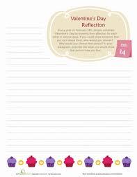 valentine u0027s day reflection worksheet education com