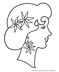 easy pre christmas coloring pages poinsettia lady