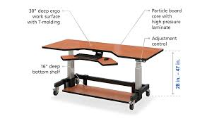 height adjustable standing desk afcindustries com