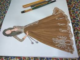 party wear dress sketch 5 youtube