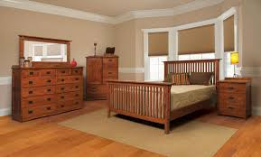 mission solid quartersawn oak rake bedroom suite e king size
