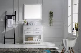 Virtu USA Caroline Estate  Single Bathroom Vanity Set In White - Virtu usa caroline 36 inch single sink bathroom vanity set