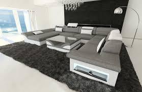 fabric design sofa atlanta xxl with led