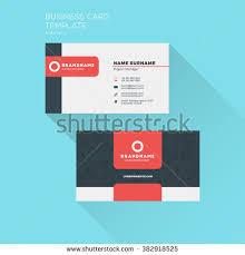 Flat Design Business Card Business Card Print Template Company Logo Stock Vector 450148318