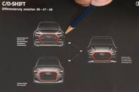 first official sketch of 2018 audi a6 a7 and a8 leaked