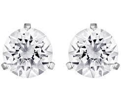 pierced earrings solitaire pierced earrings white rhodium plating jewelry
