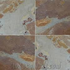 wellest multi color slate floor tile slate rustic brown