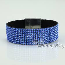 crystal buckle bracelet images Blingbling shiny crystal rhinestone magnetic buckle wrap slake jpg