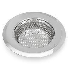 PCS StainlessSteel Kitchen Sink Strainer Large Wide Rim - Stainless steel kitchen sink strainer