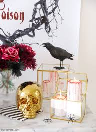 macabre home decor diy halloween bloody candles party ideas party printables
