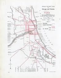 Chicago Map 1890 by Rail Maps Donnelley And Lee Library Archives And Special