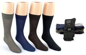 wholesale deal on mens trendy mix stripe dress socks at
