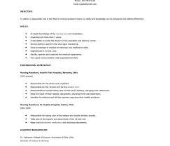 Sample Professional Resume Templates by Resume For Cna Position Education Requirements Templates Nursing