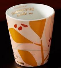 starbucks thanksgiving tasting cup 2015 ebay