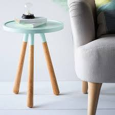 colour dip table stools woods and living rooms