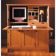 Hide Away Computer Desk Home Office Hideaway Computer Desk Woodworking Plan From Wood Magazine