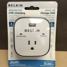 ls with usb outlets belkin surge protector with usb charger 1 outlets 1 usb charging