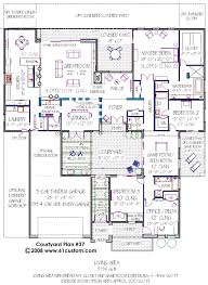 mediterranean floor plans with courtyard top 28 house plan with courtyard modern courtyard house plan