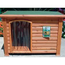 Petmate Indigo Trixie Log Cabin Dog House Medium Porch Outdoor Puppy Home Shelter