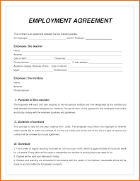 Contract Templates Free Word Templates 8 Job Contract Template Itinerary Template Sample