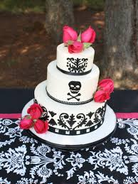 party cakes black and white wedding cake