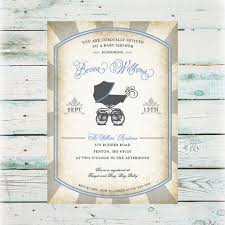 vintage baby shower invitations printable vintage baby buggie baby shower invitation diy baby