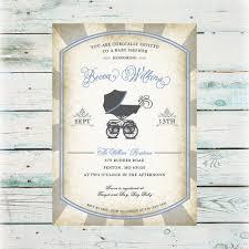 printable vintage baby buggie baby shower invitation diy baby