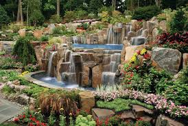 Cost Of Landscaping Rocks by Ridiculously Fancy Infinity Edge Pool With Waterfalls And Lots Of