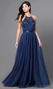 fb gl1475 embroidered elizabeth k long formal halter dress