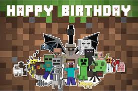 minecraft backdrop customised minecraft themed birthday packages in sg