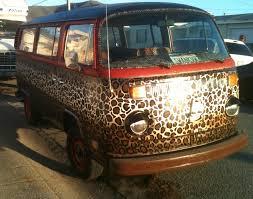 volkswagen squareback blue the leopard lounge vw art car by artist tre taylor