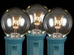 5 watt light bulbs clear satin g30 globe round outdoor string light set on green wire