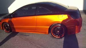 Orange Paint by Candy Orange Honda Civic Si Johns Restoration Youtube