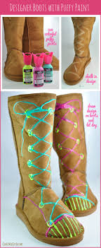 customise your ugg boots for free this autumn global blue tween designed ugg style boots with paint