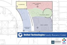 united center floor plan united technologies donates 1 5 million to create new family
