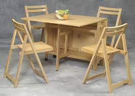 Drop Leaf Dining Table With Folding Chairs Furniture Bright Look Of Space Saving Table And Chairs To