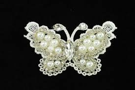 butterfly hair clip lace butterfly hair clip with pearl